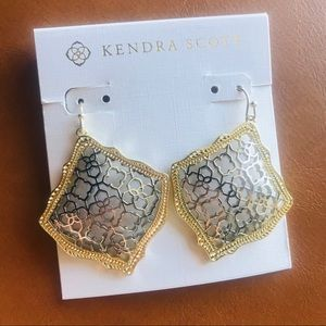 Kendra Scott gold silver filigree Kirsten earrings